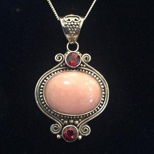 Jewelry - Pink Opal & Garnet